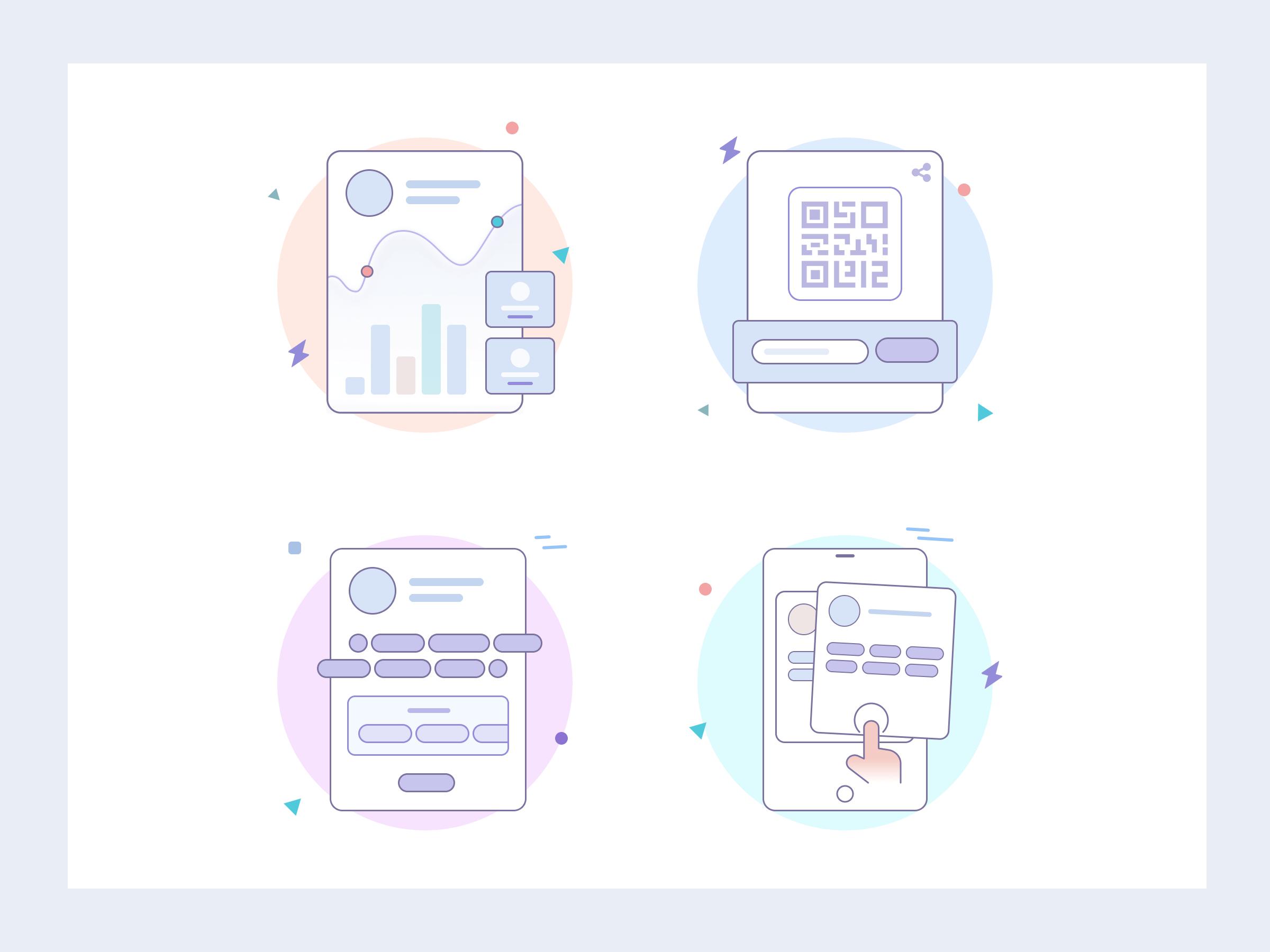 LetsChatWith illustrations set