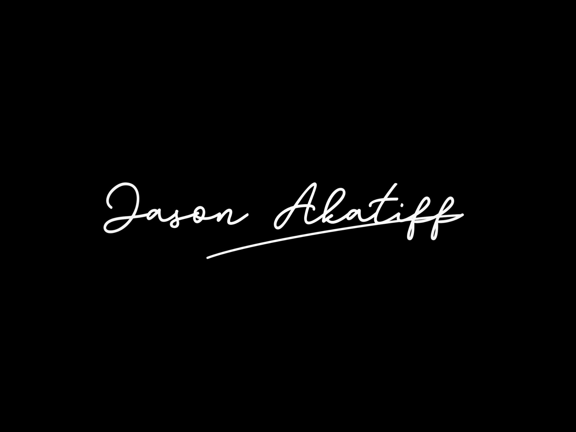 Logo animation. Jason Akatiff