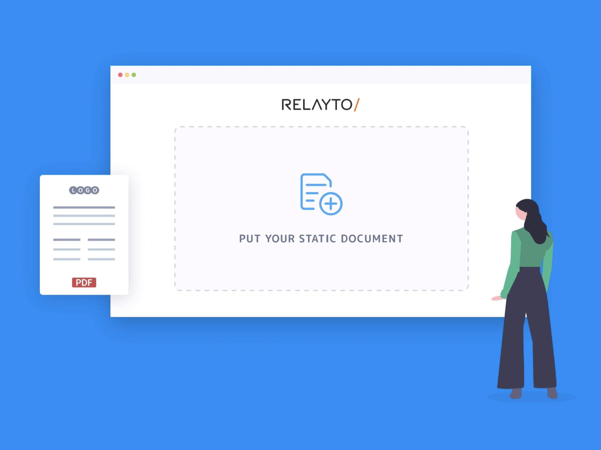 Relayto custom animation