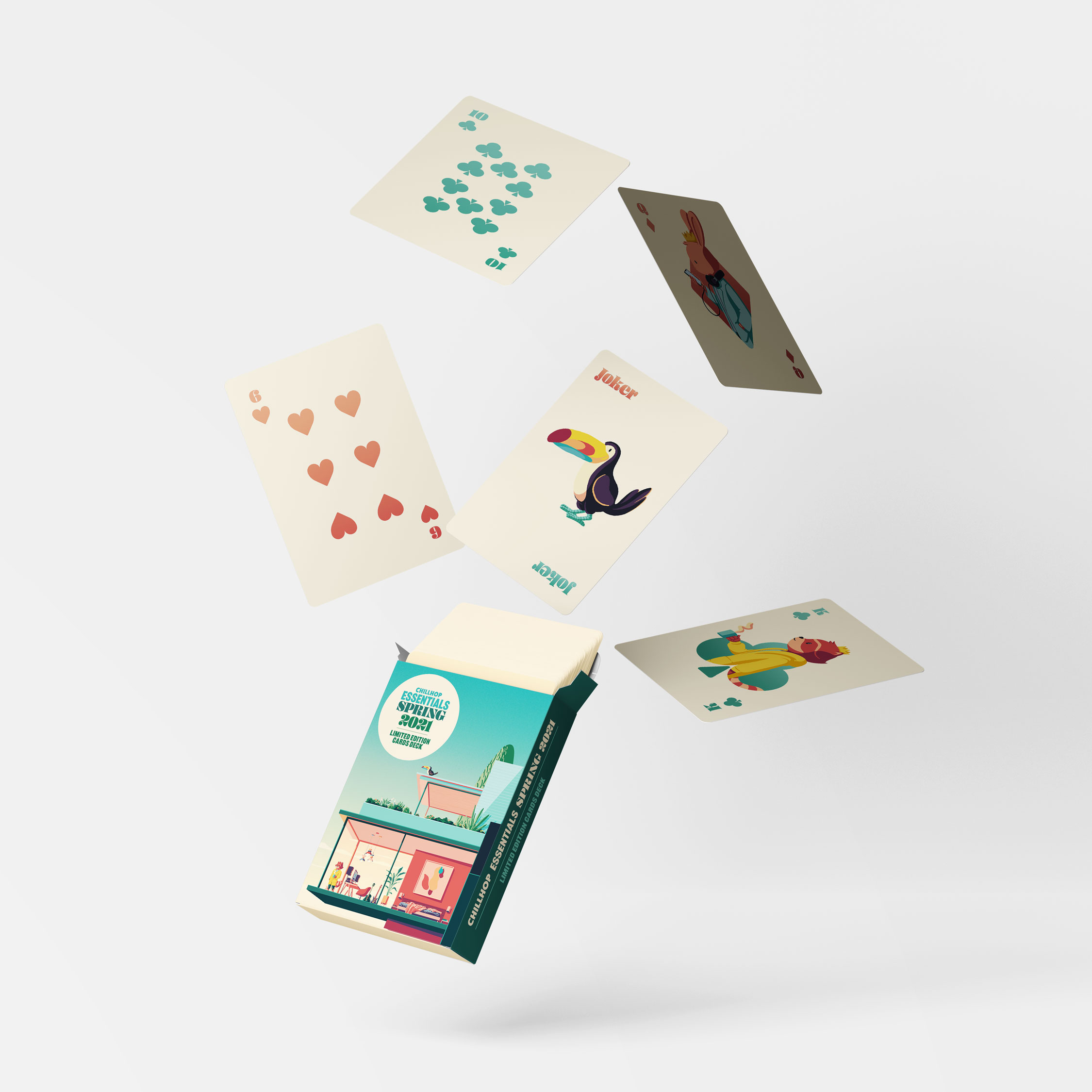 Chillhop Essentials Spring 2021 Playing cards
