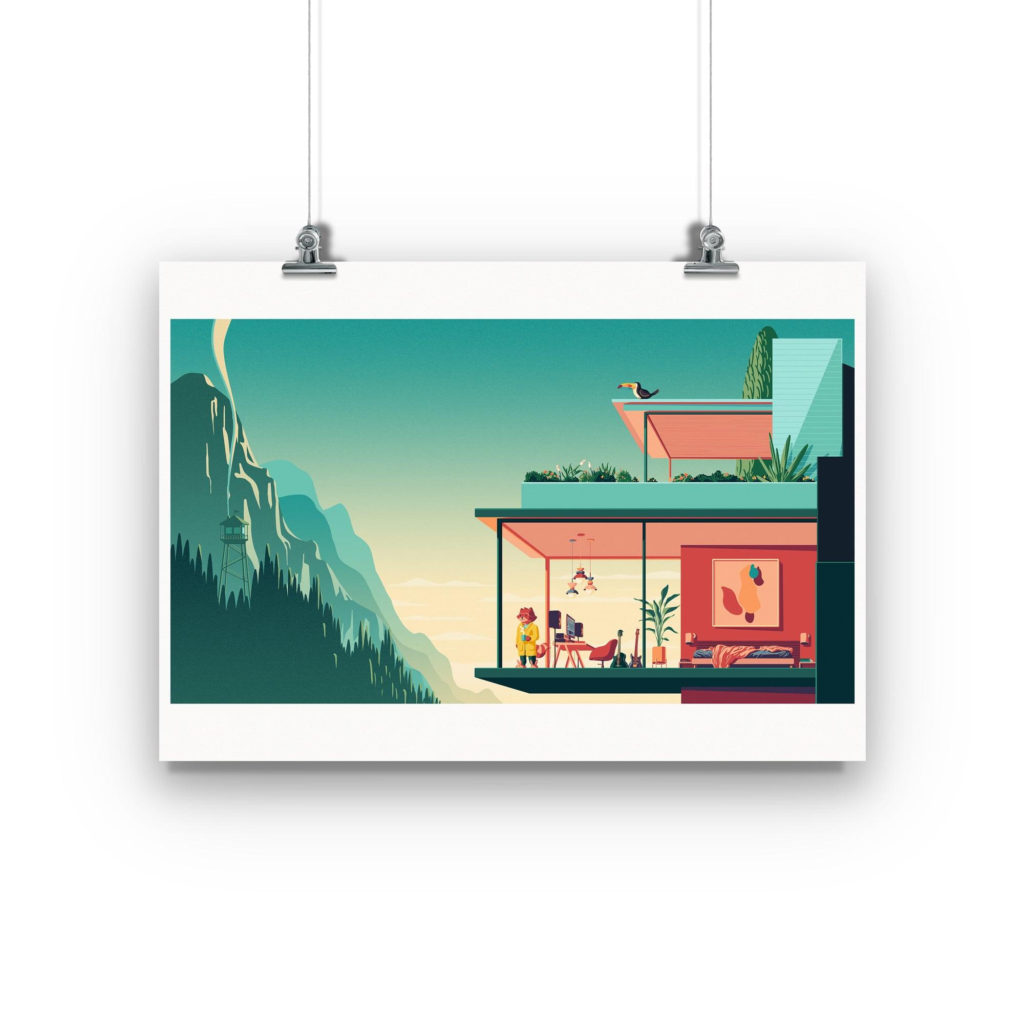 Chillhop Essentials Spring 2021 house print