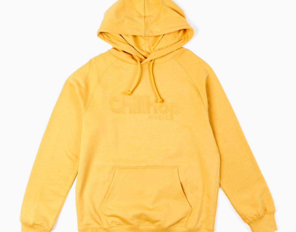 Raccoon yellow hoodie