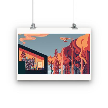 Chillhop Essentials Fall 2021 Fine Art Print