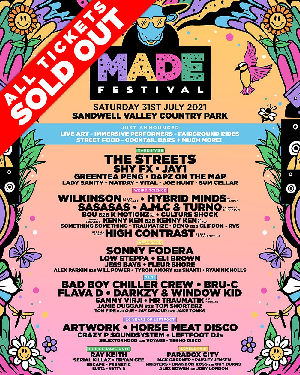 The MADE Festival 2021 Full Line Up