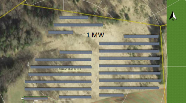 Solar park design and layout