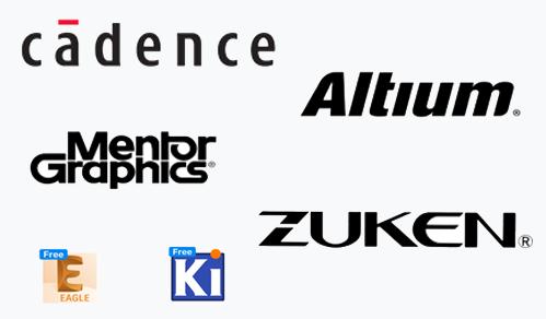 Supports EDAs such as Cadence, Altium, Zuken, KiCad and Eagle