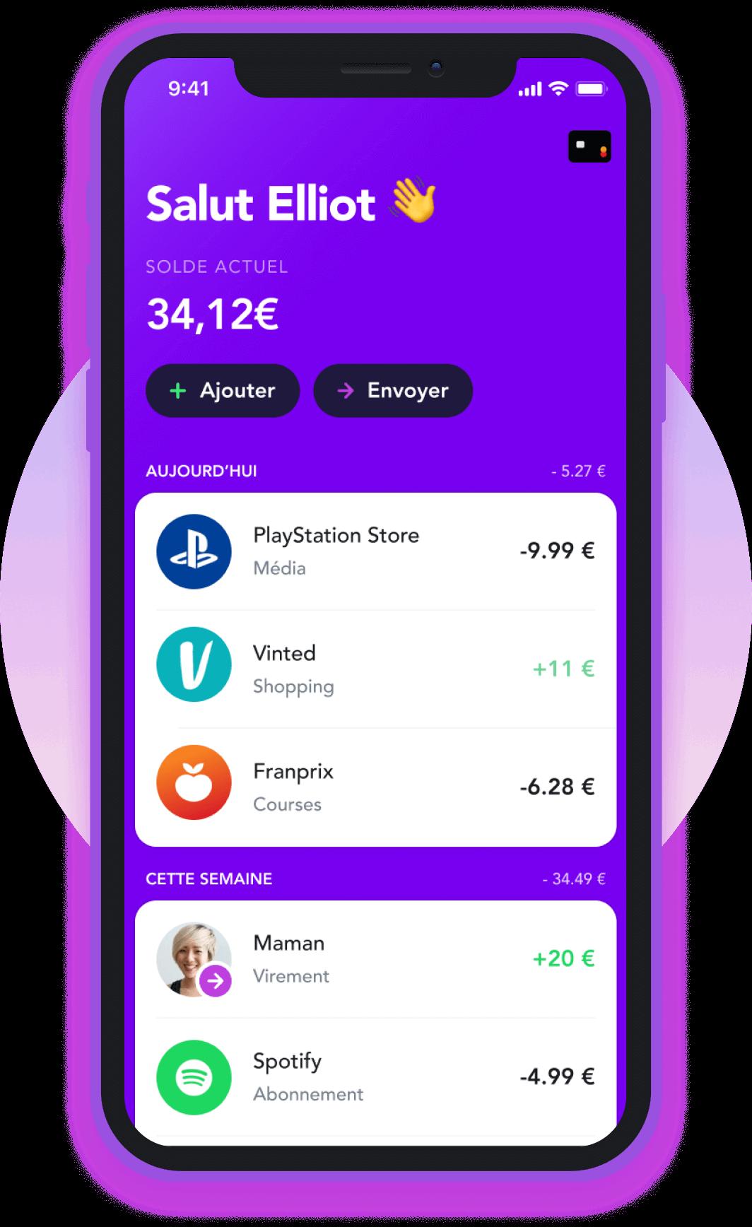 Une application et une carte pour gérer ton argent
