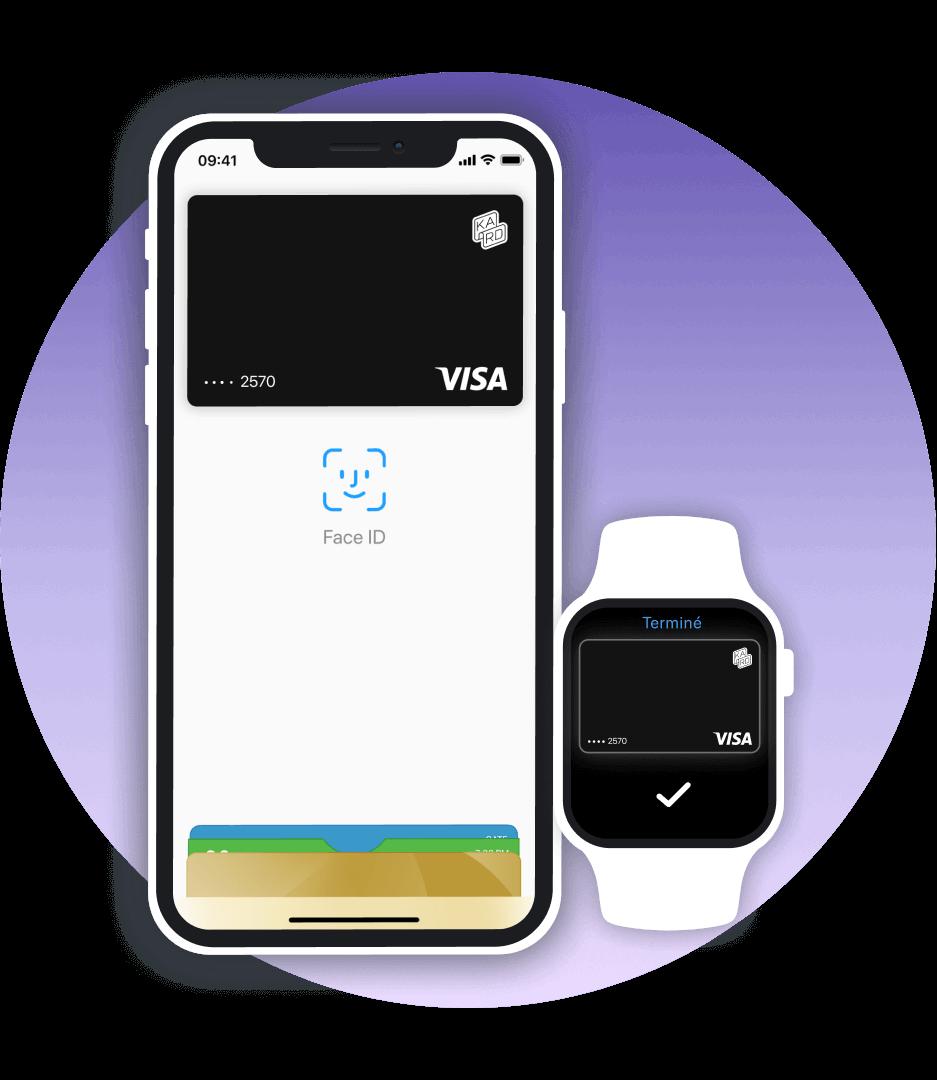 Apple Pay est disponible sur Kard