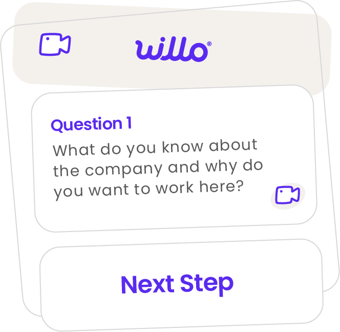 Step 1 of how Willo works