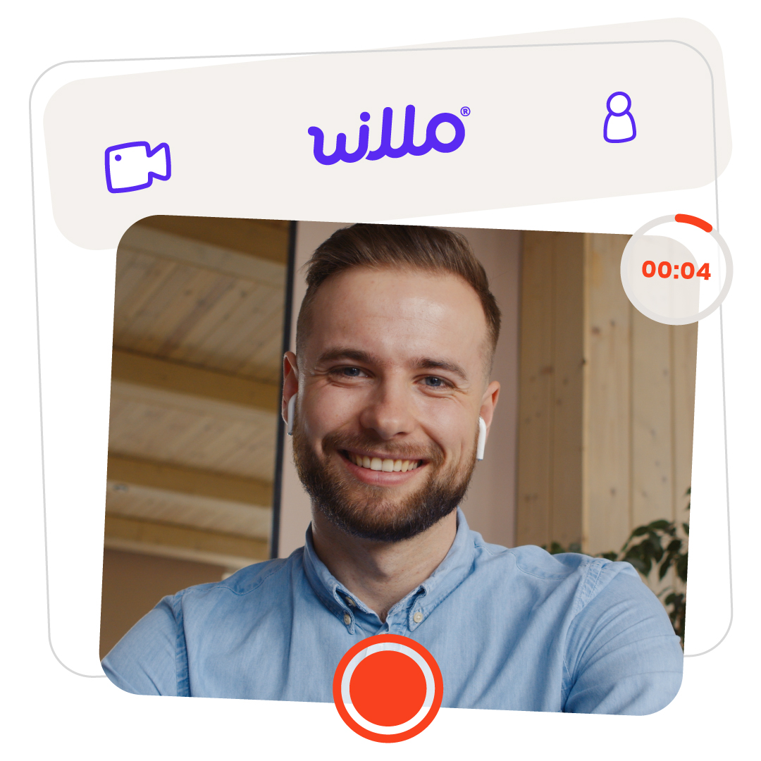 Happy White Guy on Willo Video Interview