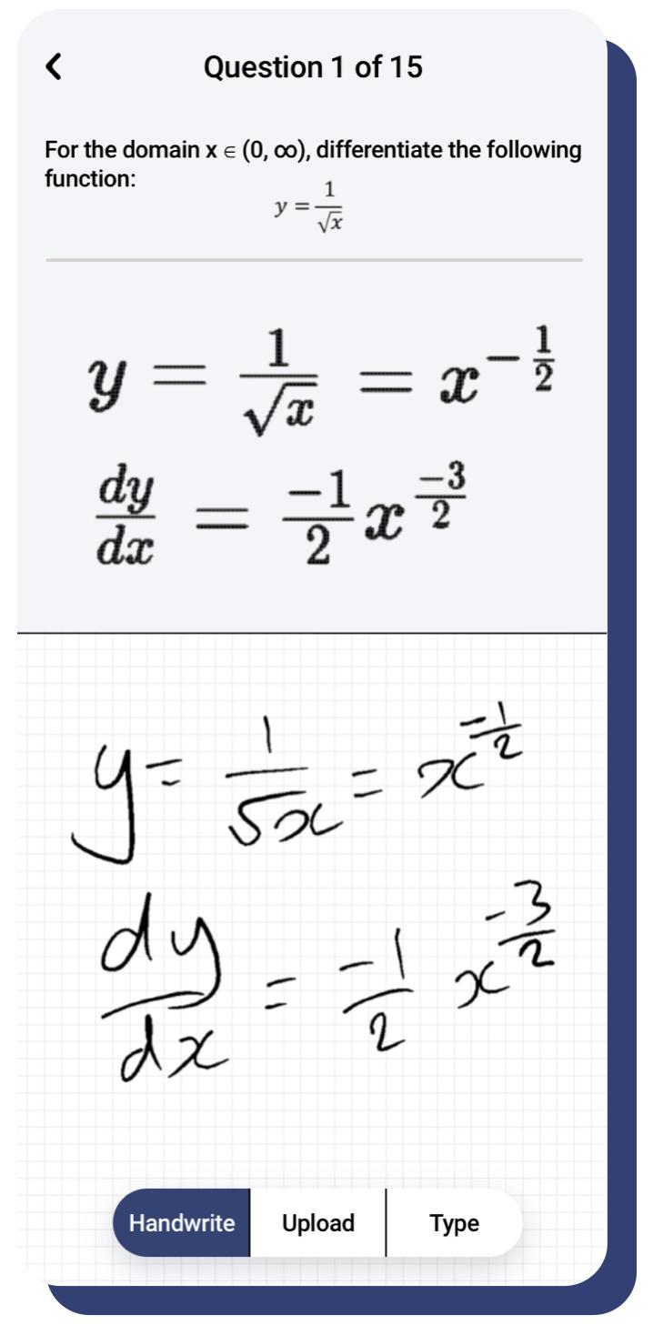 Screenshot of handwriting recognition.