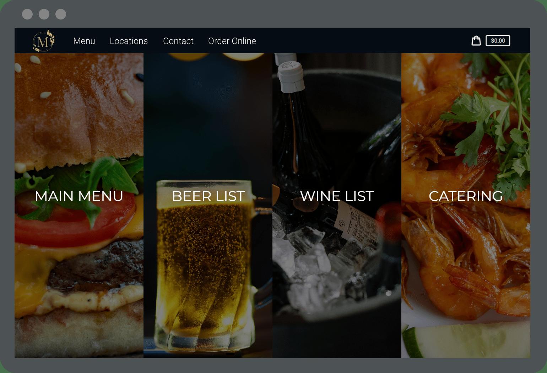 Restaurant Online Ordering Screen