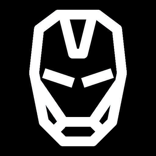 White Iron Man Face Icon