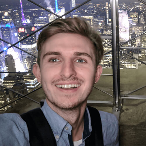Influx Studio's Director Jamie Goodson smiling whilst on holiday in New York