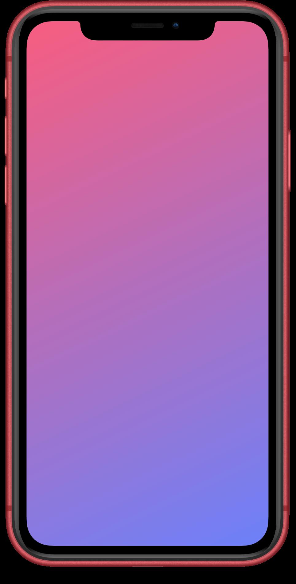 Influx Pink Gradient iPhone background display