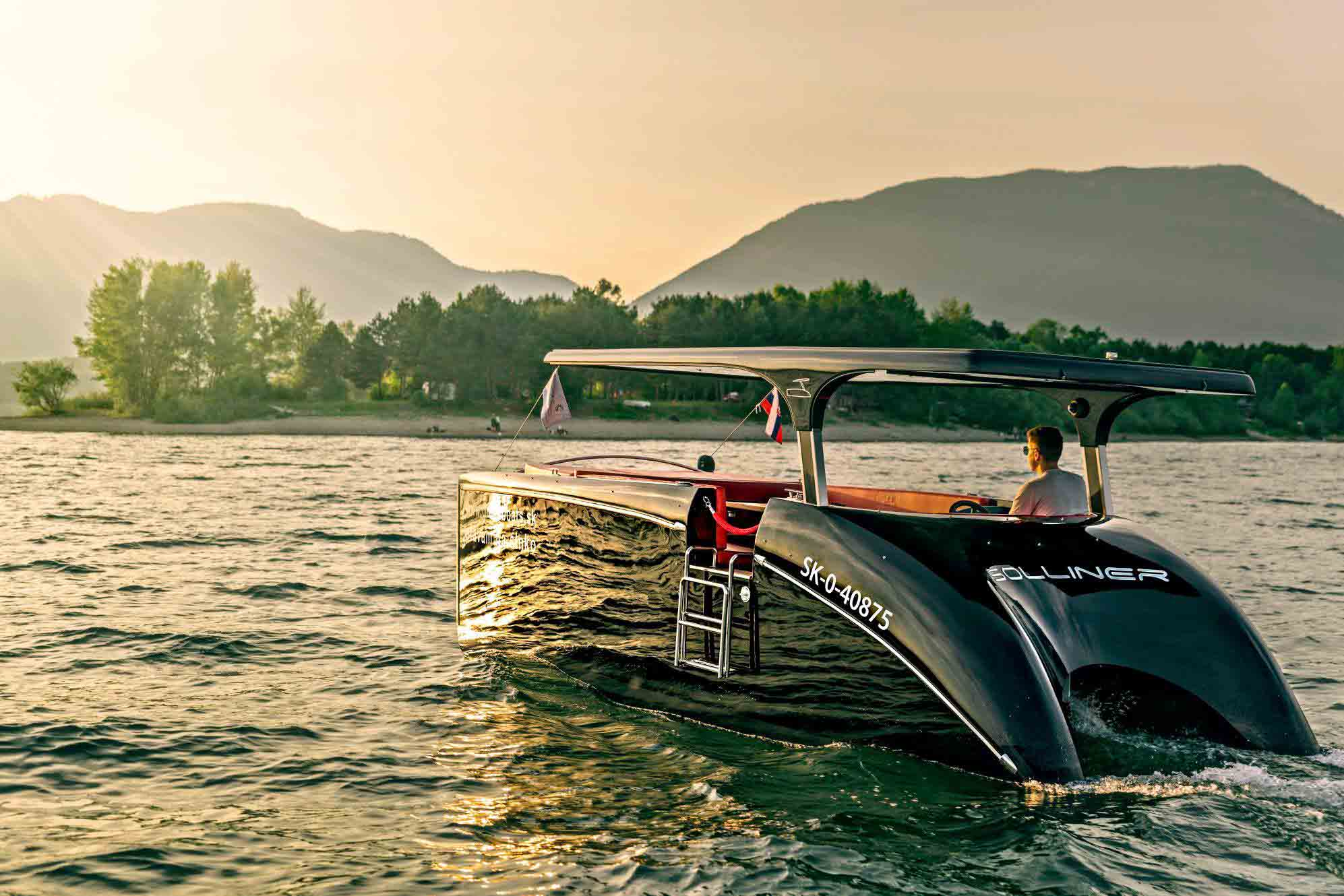The New AZUL zero, Ireland's first and only Electric & Solar Powered Boat