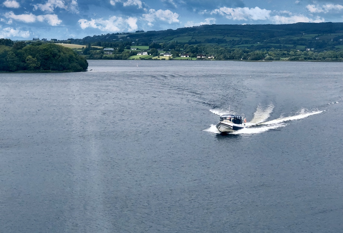 An adrenaline rush as you power through the still waters