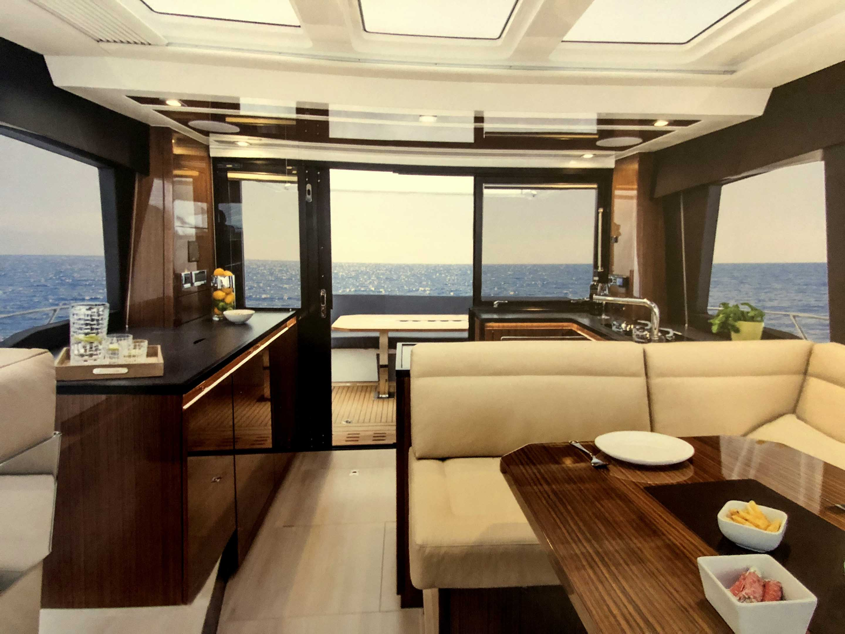 Motor yacht with contemporary interior