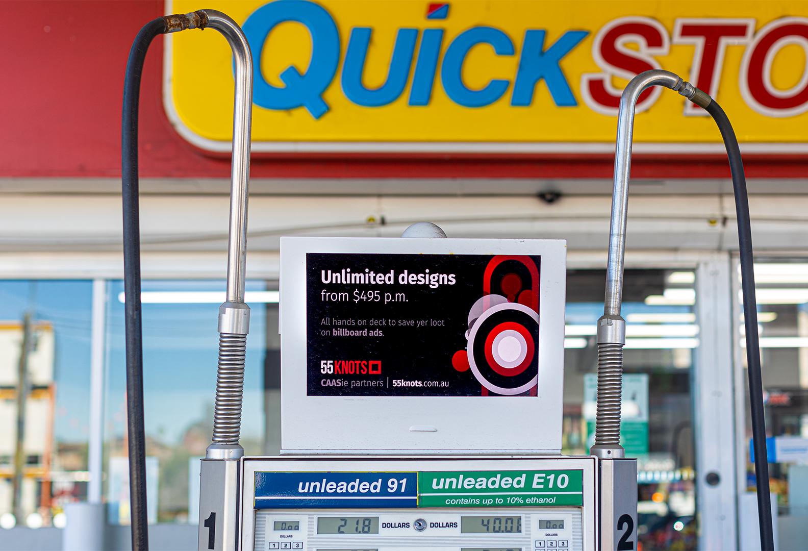 Advertising at a Petrol Station