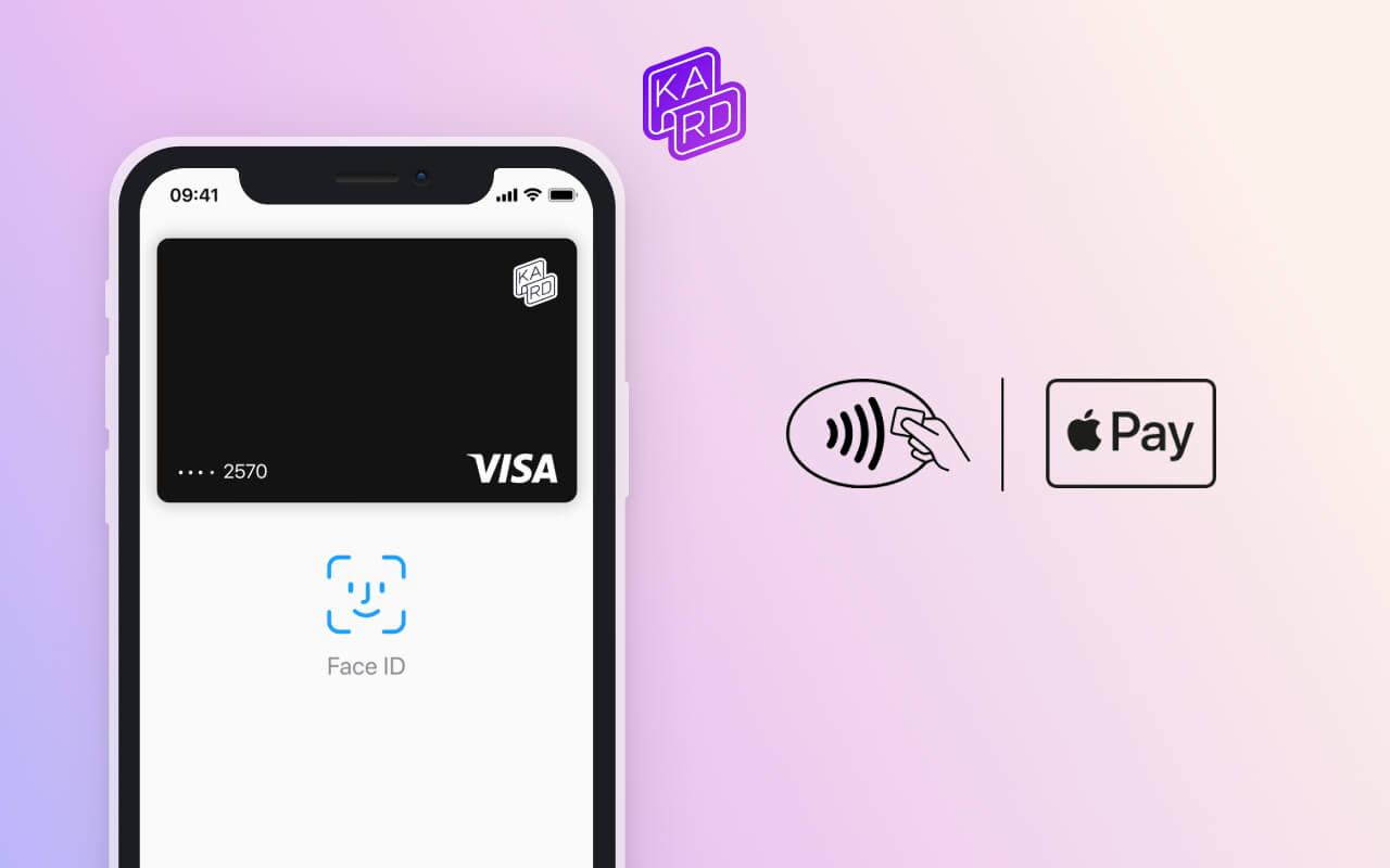 Apple Pay est disponible chez Kard