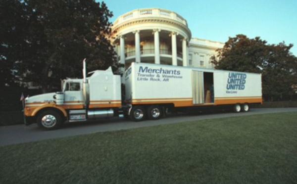 Moving Truck in Front of the White House