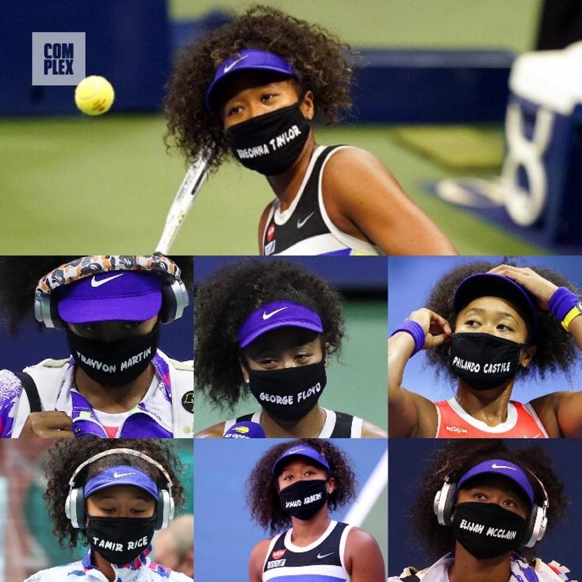 Naomi Osaka Social Justice Statement Masks