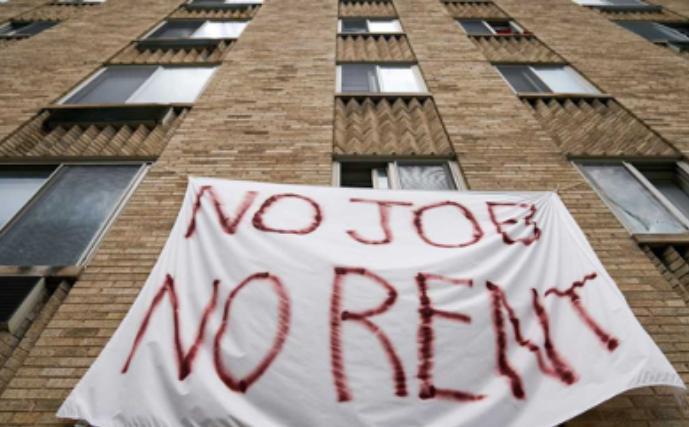 No Job, No Rent Banner