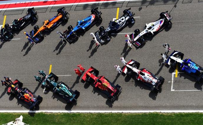 Formula 1 Cars on the Track