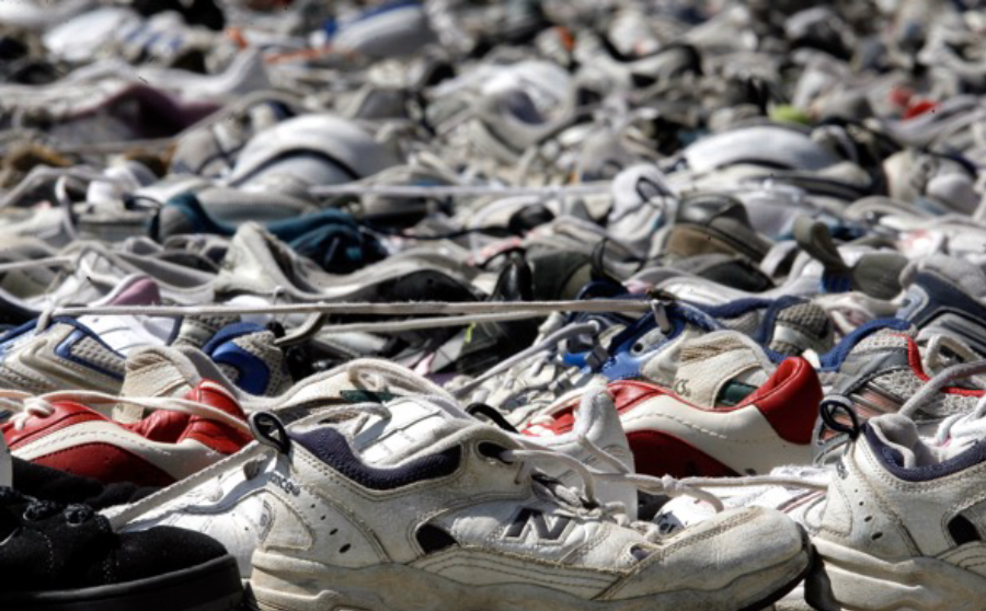 Sneaker landfill