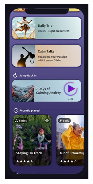 My Calm Homepage 2