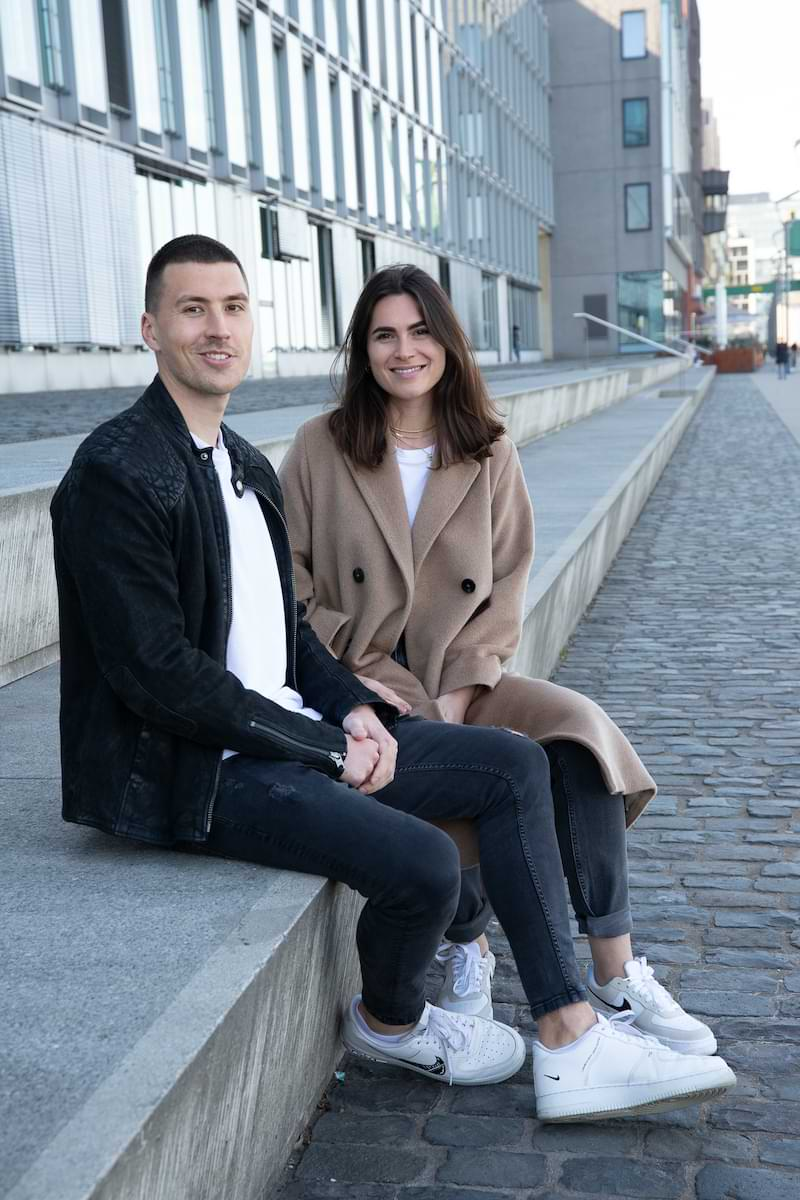Planted Spender Daniel und Helen Portrait eines jungen Paares