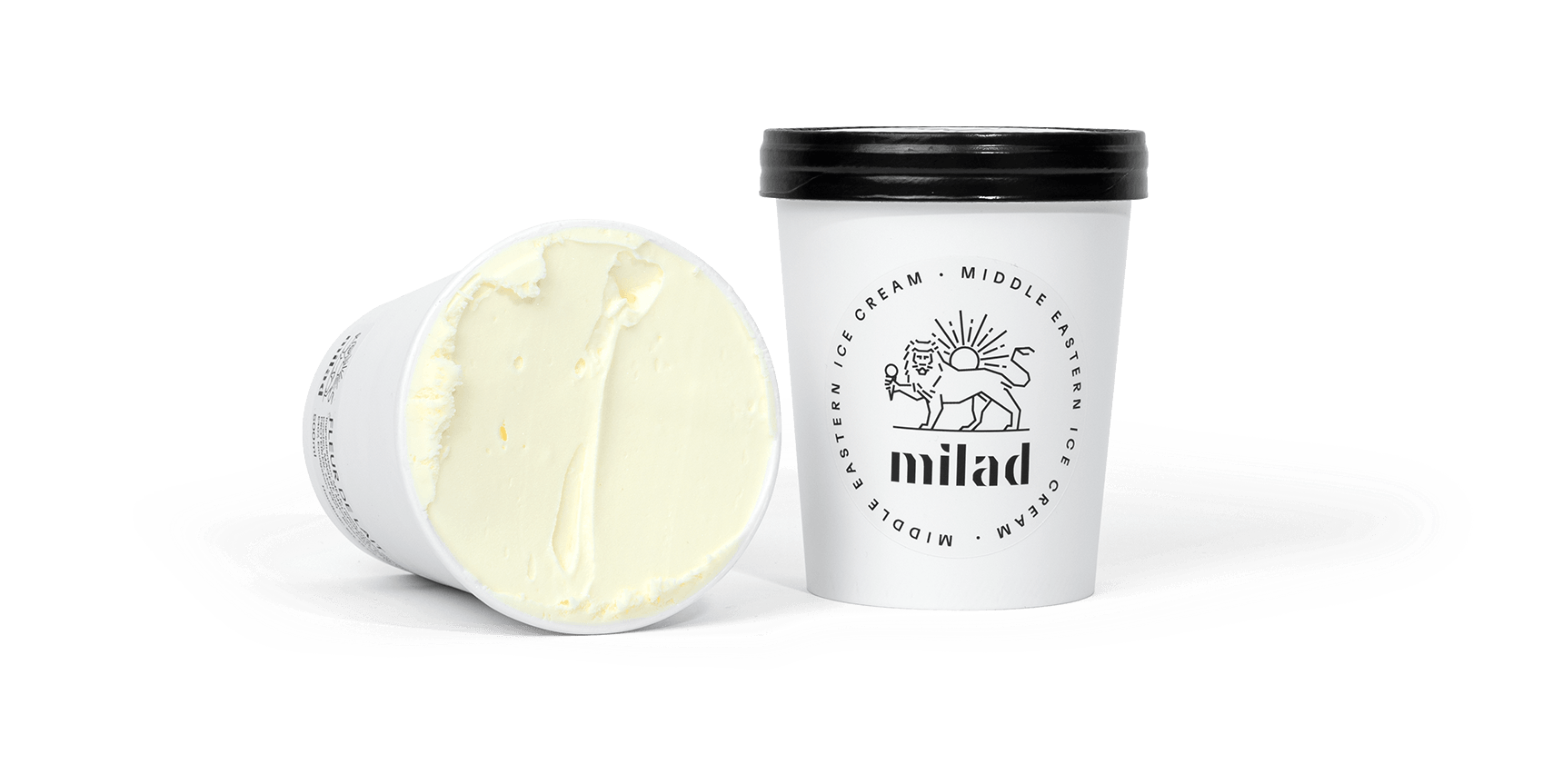 packshot of fleur de lait ice cream
