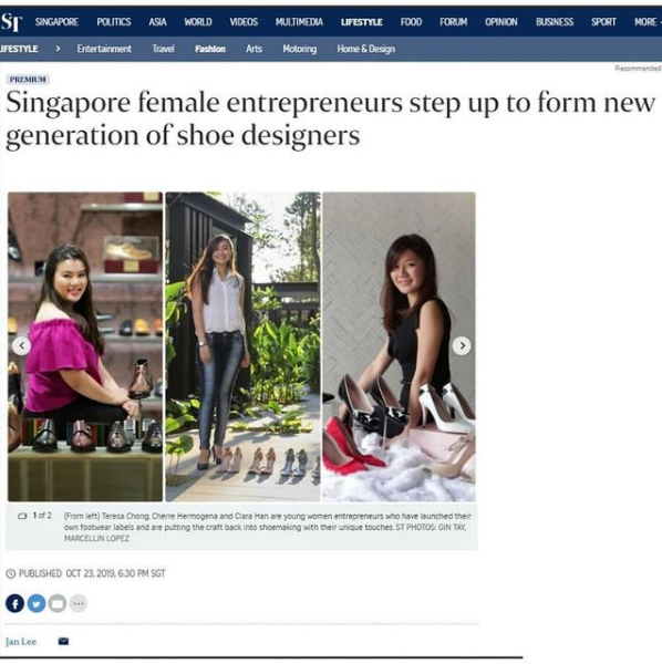 Article of Art of Shoes Alumnus on Straits Times