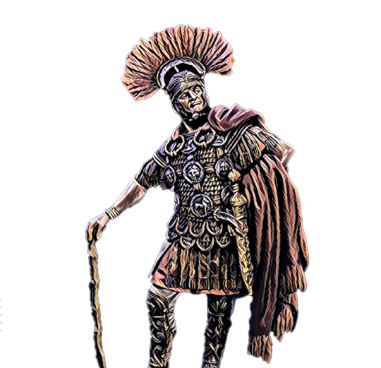 Vorpal: Female gladiator with huge sword ready to battle for NFT and crypto currency in the colosseum