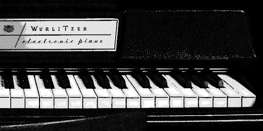 Close-up of keys on a Wurlitzer electric piano