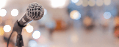 microphone at an event