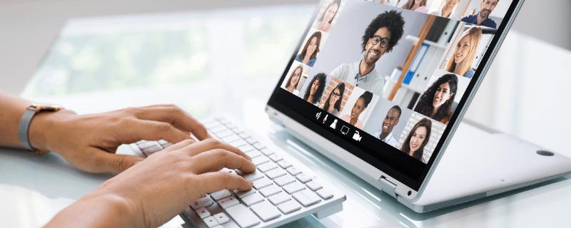 hosting a virtual call
