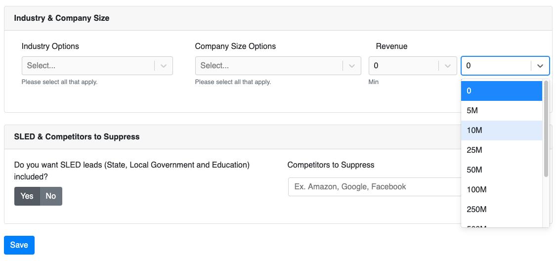 Select max revenue