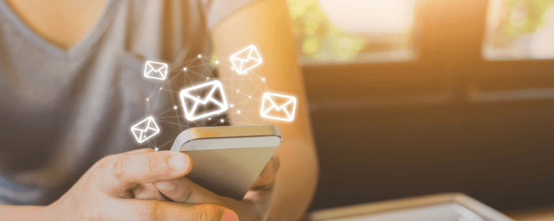 cell phone sending emails