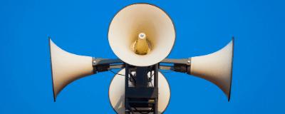 four megaphones