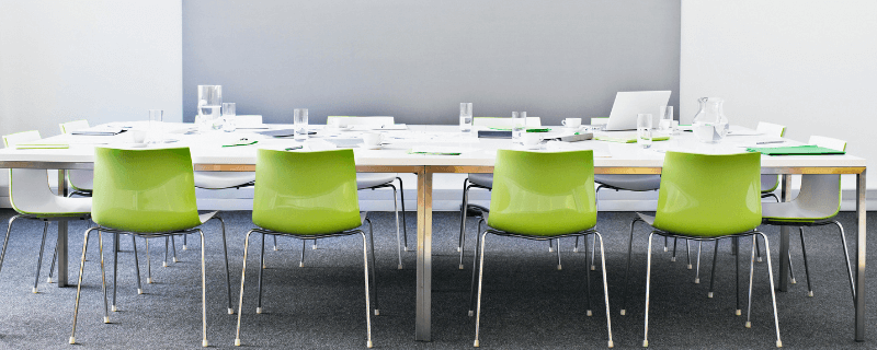 empty chairs in conference room