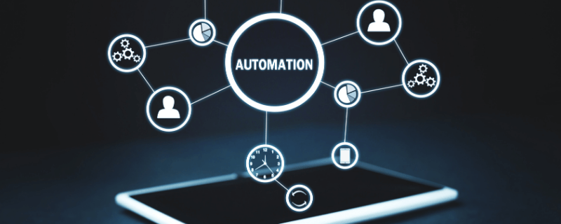 automation graphic coming out of phone
