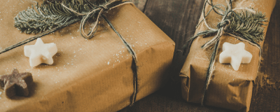 gifts wrapped for the holidays