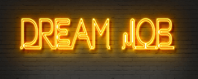 dream job neon sign