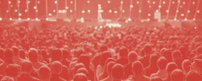 High-attendance live event with a potentially under-engaged audience
