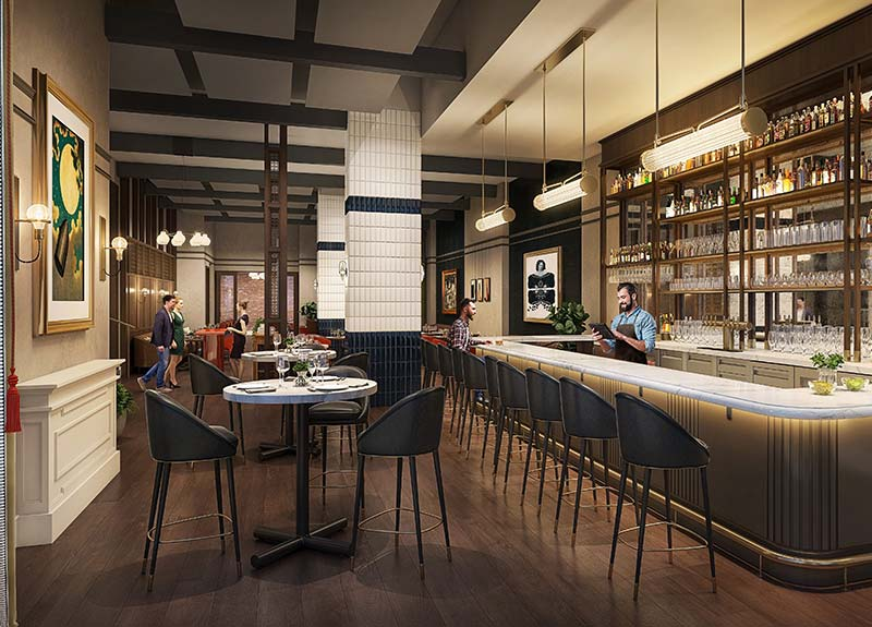 Rendering of the Revivalist bar and restaurant