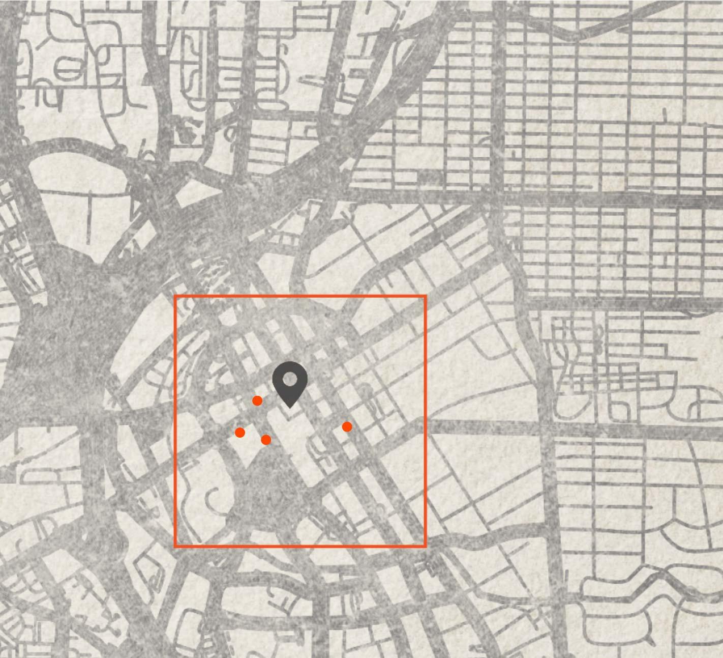map of downtown Huntsville