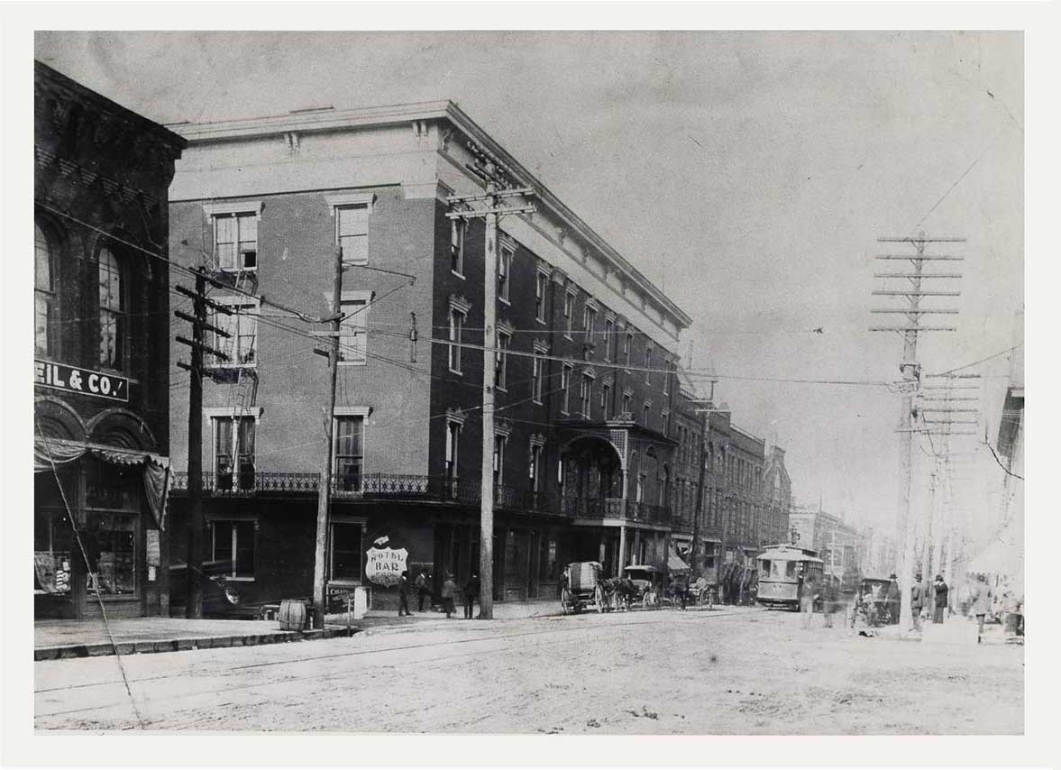 historical photo of downtown Huntsville