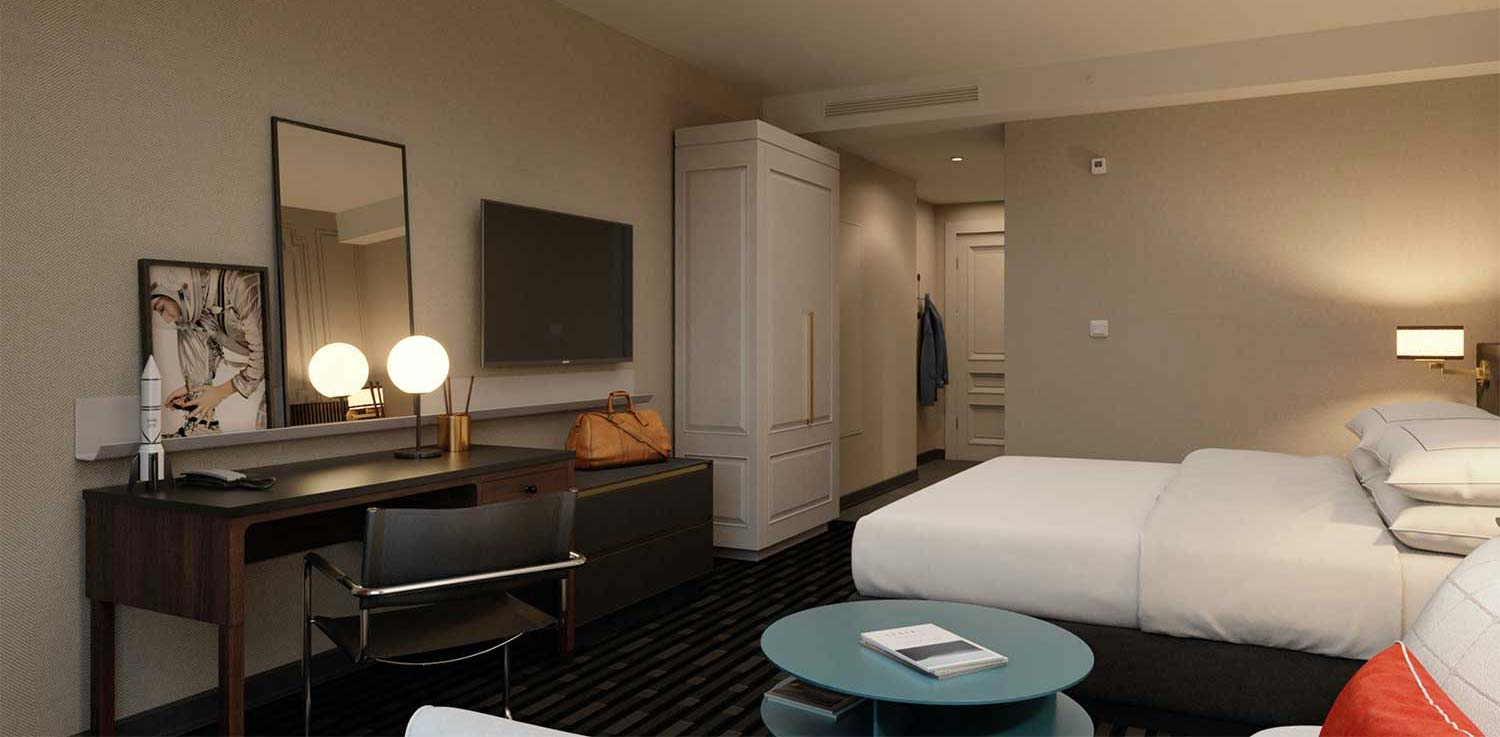 """Suite with king bed, hotel in Huntsville, 106 Jefferson"""""""