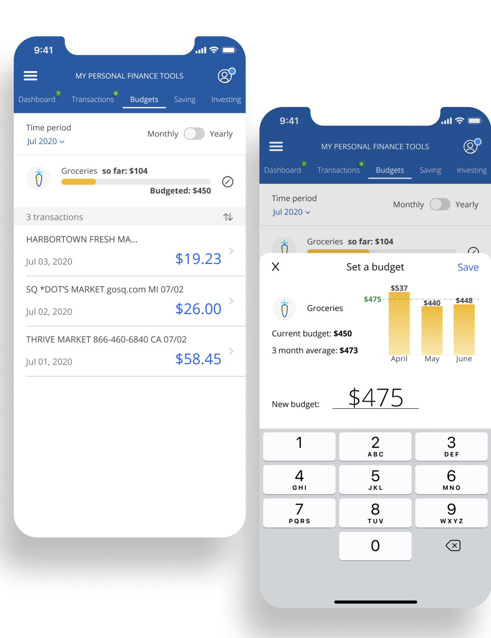 Final UI | Chase Personal Finance
